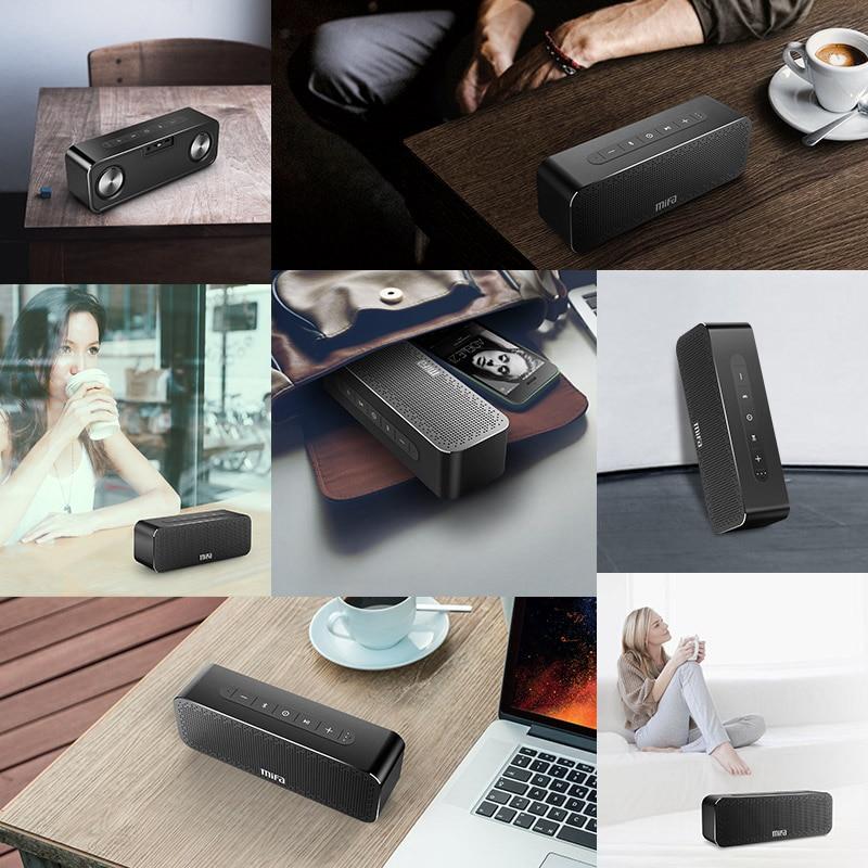 MIFA portátil Altavoz Bluetooth inalámbrica de sonido estéreo de radio de altavoces con micrófono TF AUX estéreo TWS - 6