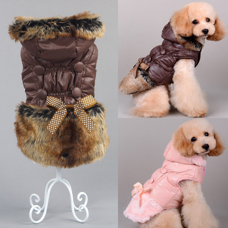 Autumn Winter Warm Pet Dog Clothes For Dogs Fur Hooded Puppy Pet Cat Coat Jackets Chihuahua Pug French Bulldog Clothing Overalls