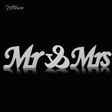 Mr and Mrs Letters White Sign Stand Top Table Centerpiece Wedding Decoration Wooden Letters Wedding Sign Romantic Mariage Decor