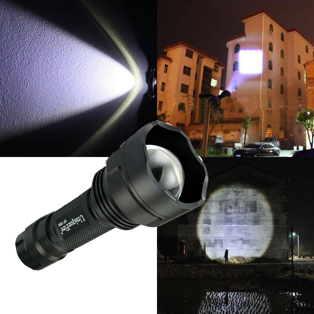 UniqueFire UF-1505 Cree XPE/XPG Mini LED Flashlight Aluminum Alloy 3 Mode Adjustable Focus Zoom Light Lamp For Home & Outdoor 2 pics pack 3 light mode cree xm l t6 or xpe zoom mini led flashlight with adjustable focus working with 18650 li ion battery