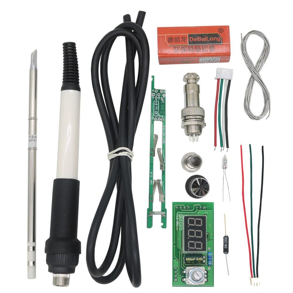 QUICKO STC-LED Versione V2018 T12 Controllore della Stazione di Saldatura Con Colofonia Saldatura Maniglia 907 Set Elettrico Saldatori tips