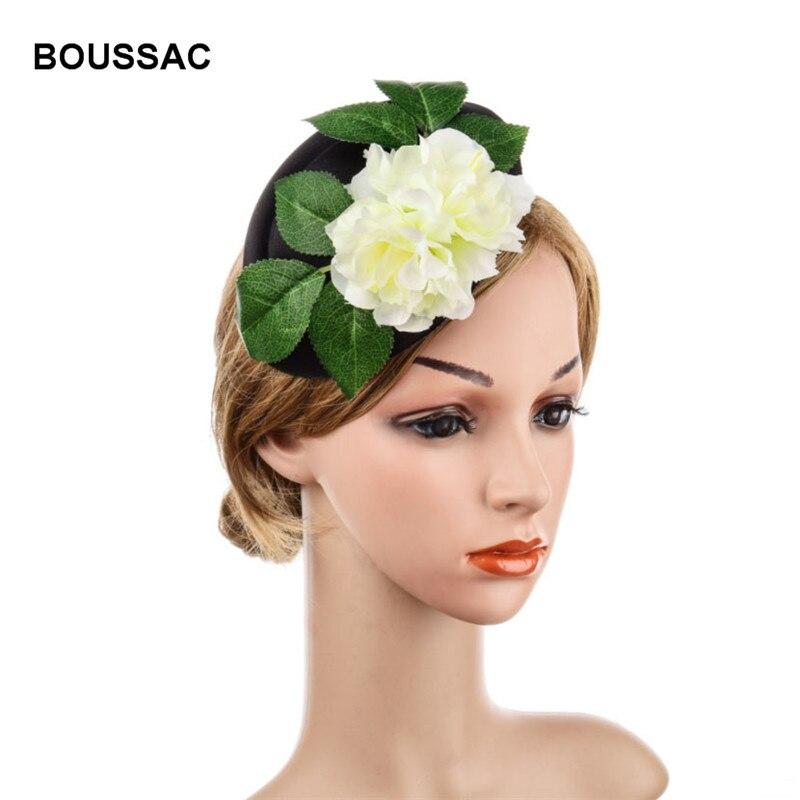 dark red satin flower fascinator pill box hat hair clip headpiece wedding party