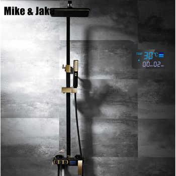 Black bidet shower set Square wall shower digital bath crane white bathroom Shower faucet with bidet Bathtub shower tap MJ6689 - DISCOUNT ITEM  38% OFF All Category