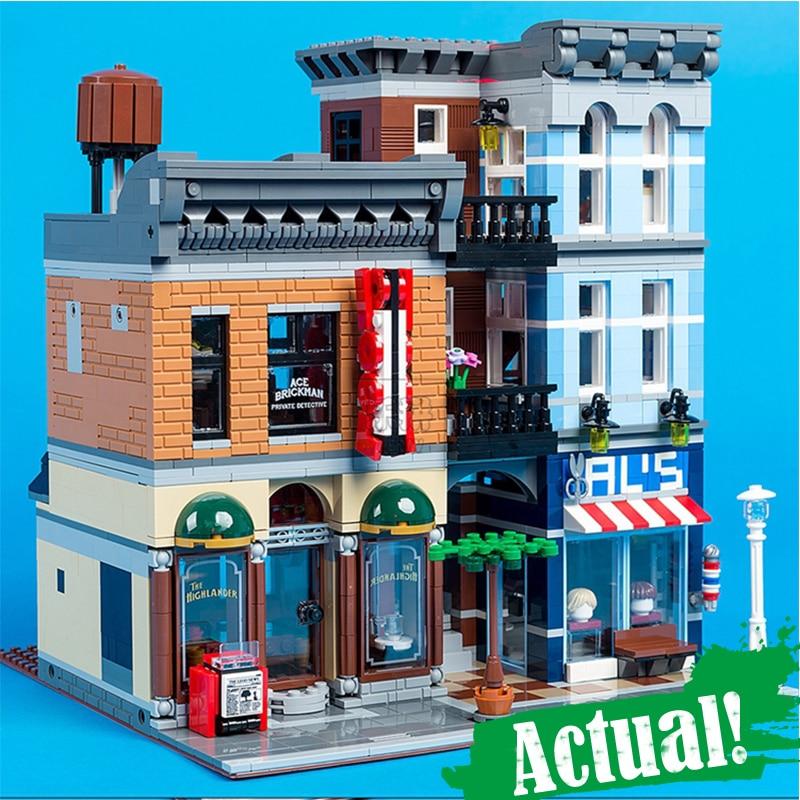 IN STOCK 15011 2262Pcs City Street Detective's Office Model Building Kit Blocks Bricks lepin Toy Compatible 10246 Gifts a toy a dream lepin 15008 2462pcs city street creator green grocer model building kits blocks bricks compatible 10185