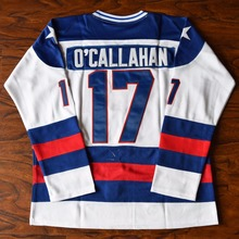 MM MASMIG Jack O'Callahan #17 Miracle on Ice USA Ice Hockey Jersey Stitched White(China)
