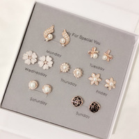 11.11 7 Pairs/Set Fashion Week Daily Wearing Jewlery Sets For Women High Quality Clip On Earrings No Pierced Ear Jewelry Gift