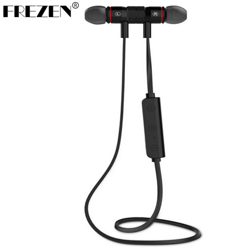 FREZEN M9 Magnet Bluetooth Earphones Wireless Noise Reduction Earphone with Mic Sweatproof Stereo Bluetooth Headset For Phone PC 2017 meizu ep51 bluetooth waterproof sport earphone headset for phone computer wireless earphones apt x with mic stereo headsets