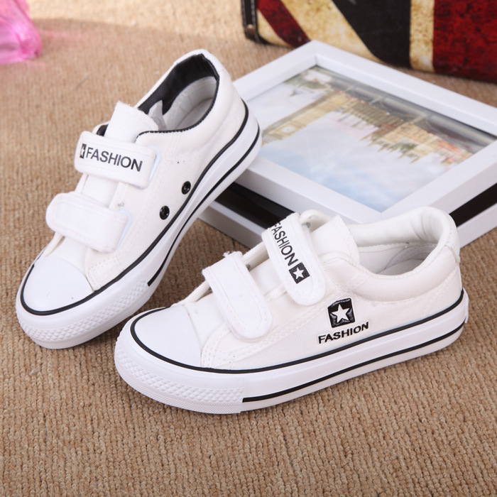 Best 2017 Latest Spring and Summer Fall Children s Shoes Boys and Girls  White red black blue Solid Color Canvas Sneakers new Reviews 2fc8f234d04e