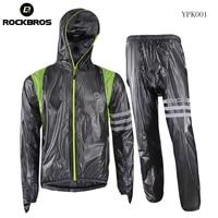 ROCKBROS Cycling Jersey Waterproof Raincoat Breathable Bike Cycling Clothing Men Ropa Ciclismo Windproof MTB Cycle Raincoat