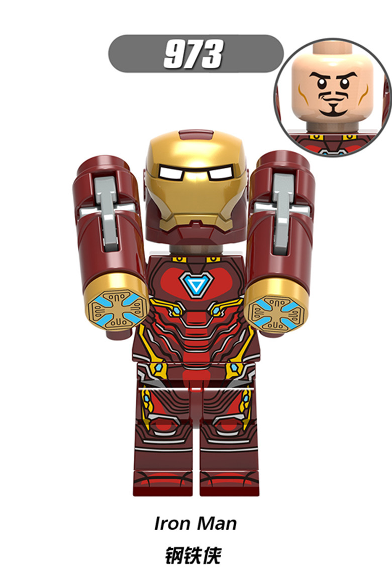 Blocks Popular Brand X0221 Super Heroes Iron Man Bricks Ulysses Klaw Ghost Rider Building Blocks Toys Gifts For Children Toys & Hobbies