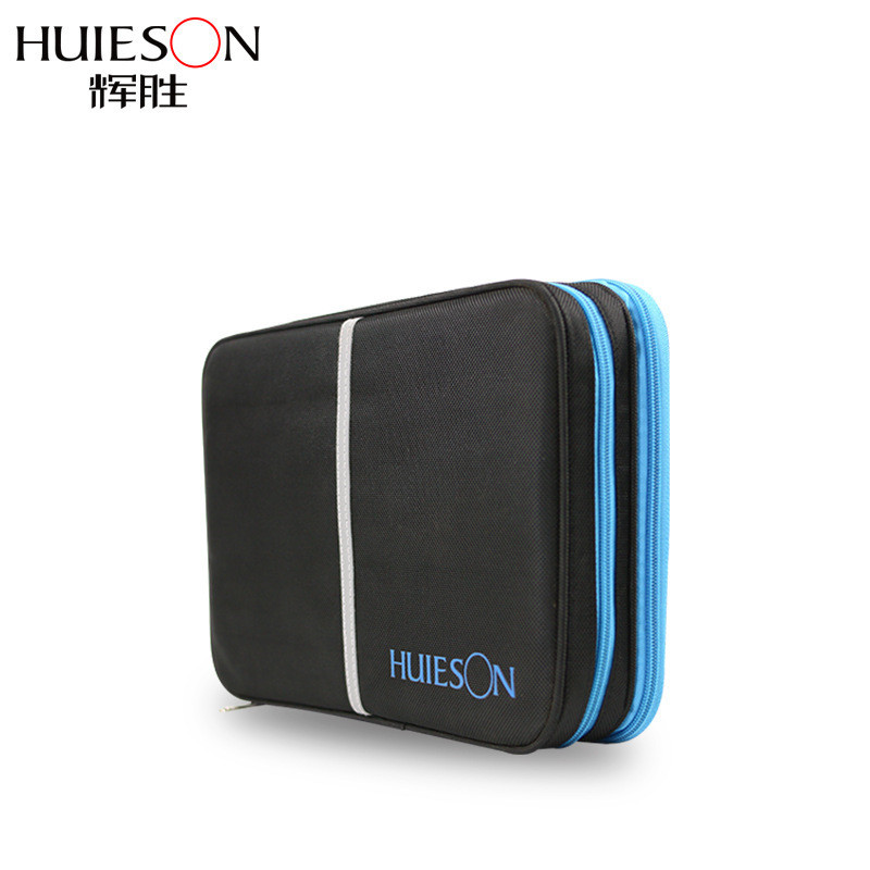 Huieson Big Capacity Double Layer Rectangle Table Tennis Bag Waterproof Oxford Cloth Case For 2 Rackets And Accessorries
