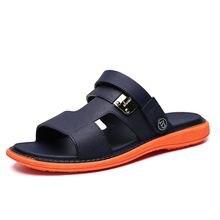 New Mens Sandals Summer Hollow Soft Bottom Garden Beach Casual Men Shoes Flip Flops Cheap Male Water