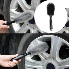 1pc Vehicle Wheel Brush Washing Car Tire Rim Cleaning Handle Tool for Truck Motorcycle Bicycle Auto hot