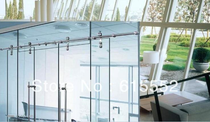 Interior Glass Sliding Barn Door Hardware For Office Glass Door In