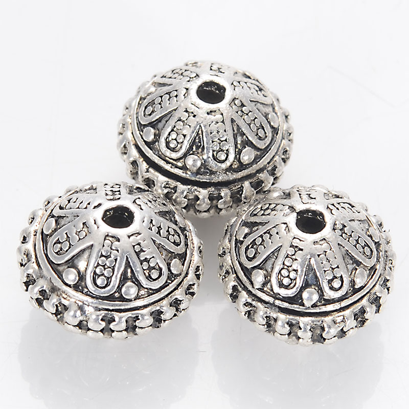 Beads,Tibetan style beads Antique Silver casting beads 13*16mm Sold of 100pcs