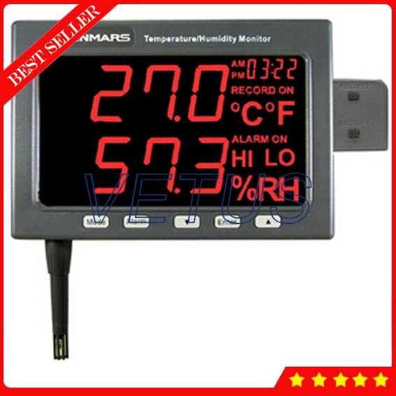 Wall Mounted Temperature Humidity Data Logger TM-185 with LED Monitor digital Datalogger Recorder Thermo Hygrometer new usb temp temperature humidity datalogger data logger record meter 40 70c