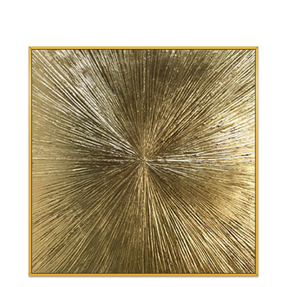 beautiful design hand painting wall art gold frame 80cm