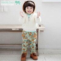 2PCs/set Children Boy Clothing Korean Cool Leopard Coat Pants Baby Boy Winter Clothes