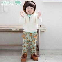 2 Шт./компл. Дети Мальчик Одежда Корейские Прохладный Leopard Пальто Брюки Ребенка Мальчик Зимней Одежды