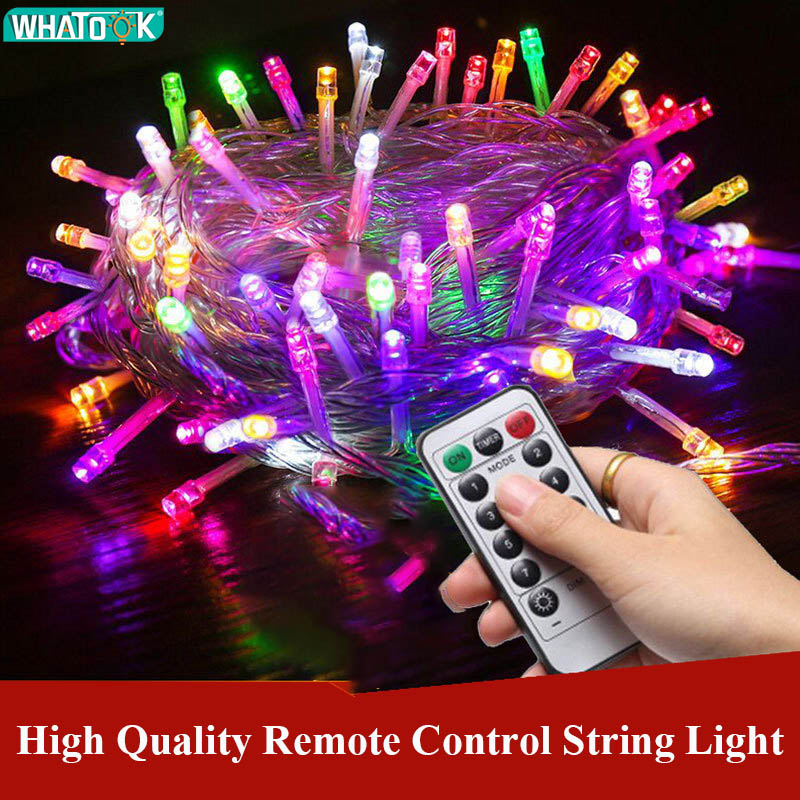 Remote Control LED Fairy Wedding Christmas Outdoor String Light Garland 10M 20M 30M 50M 100M Waterproof Party Holiday Light 220V