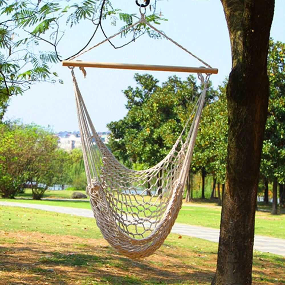 Niños Adultos de Algodón Cuerda Neta Asiento Del Columpio Al Aire Libre Colgando Silla de Jardín de Patio Nueva Llegada