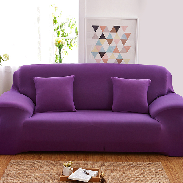 Sofa Cover Sofa Slipcover Solid Elastic Single/Two/Three/Four Seater Stretch
