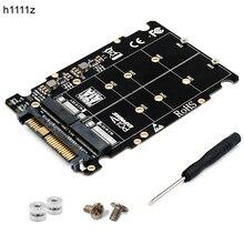 M.2 SSD zu U.2 Adapter 2in1 M.2 NVMe und SATA Bus NGFF SSD zu PCI e U.2 SFF 8639 Adapter PCIe m2 Konverter für Desktop Computer