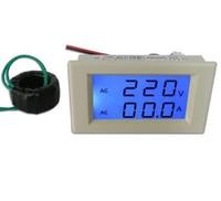50a الأزرق lcd الرقمية ac 300 فولت مزدوج لوحة فولت أمبير متر كومبو + ct تحتاج أي قوة