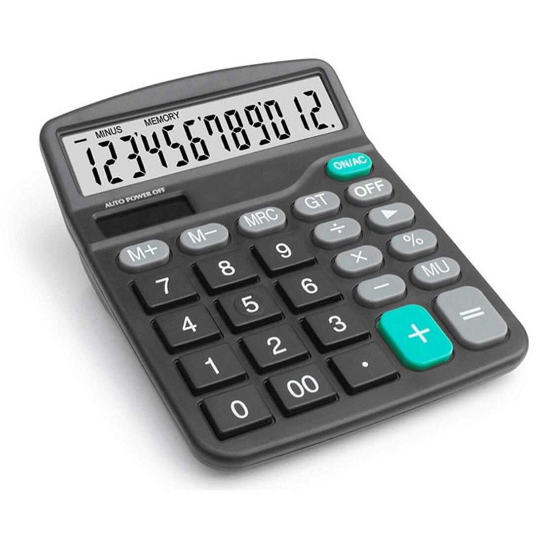 Calculadora Solar NOYOKERE calcular batería de herramienta comercial o Solar 2in1 alimentado 12 dígitos calculadora y botón electrónico