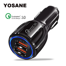 Quick Charge 3.0 2 Port USB Car Charger Mobile Phone Dual Car Usb Charger Qc 3.0 Fast Charging for iPhone Samsung xiaomi Tablet цены
