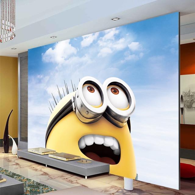 3D Cartoon Wallpaper Minions Photo Wallpaper Custom Wall Mural Boy Girl Kid  Bedroom Room Decor Living Part 77