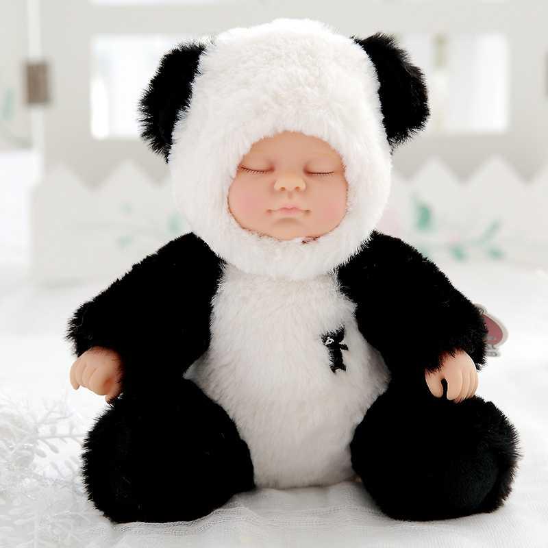 لطيف دمية دب قطيفة سيليكون تولد من جديد دمى طفل النوم دمية محشوة ألعاب من القطيفة للفتيات Bjd بيبي محشوة نابض بالحياة دمى هدية