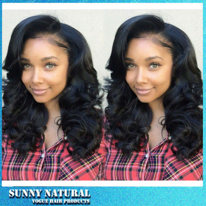 #1B Color Synthetic Lace Front Wig Big Wave Cheap Long Wavy Lace Front Wigs For Africa Black Women Factory Price