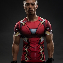 Iron Man T Shirt Captain America Civil War Tee 3D Printed T-shirts Men Compression Avengers 3 Short Sleeve Fitness Clothing Male