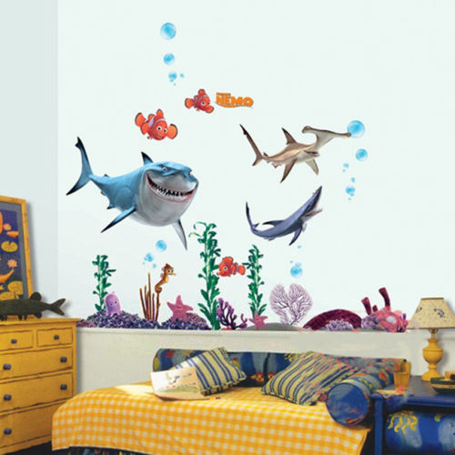 FINDING NEMO Wall Decals Sticker 3D Cartoon Decor Sea Animal Fish Removable  PVC Nursery Kids Room Part 66