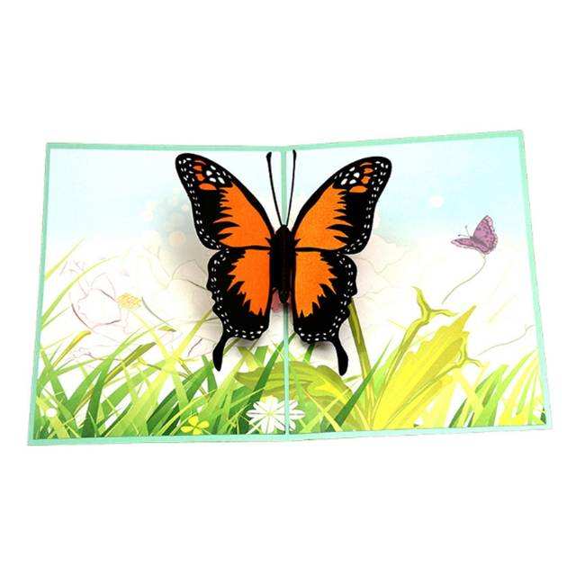 US $2 68 19% OFF|Butterfly Greeting Cards Handmade Birthday Wedding  Invitation Letter Christmas Thanksgiving Seasons Greeting 3D Pop Up Card  NEW -in