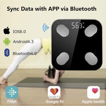 Báscula de grasa corporal Bluetooth, báscula Digital inteligente precisa, báscula de peso para baño, Analizador de composición corporal con aplicación para Smartphone|Básculas de baño| |  -