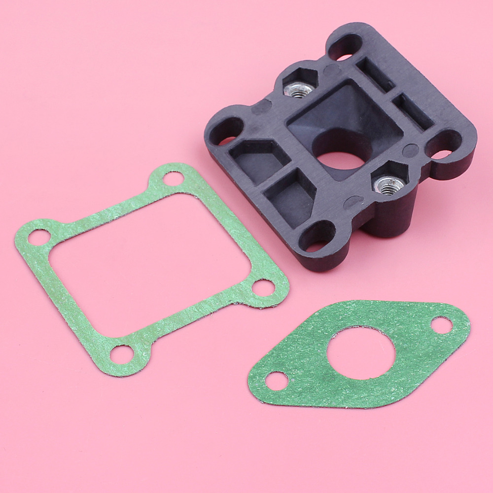 Carburetor Insulator Intake Manifold Gasket Kit For Robin NB411 EC04 BG411 CG400 2 Stroke Trimmer Brush Cutter Engine