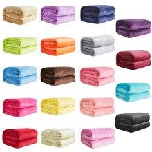Suave cálida lana Color Coral franela mantas para camas Imitación Piel visón tiro de Color sólido para sofá cubrecama invierno mantas de cuadros