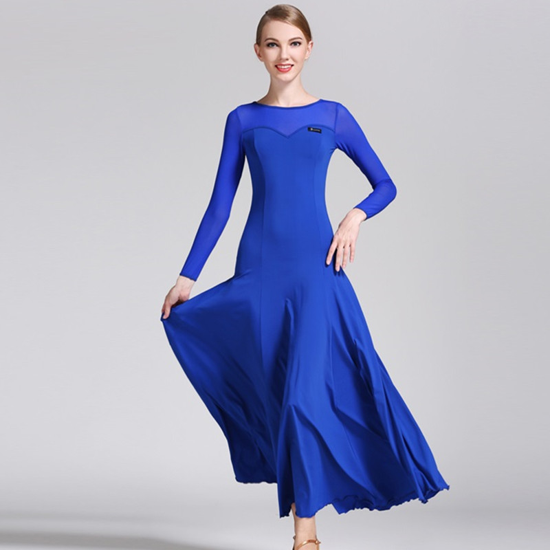 Ballroom Dance Dress Women Spanish Dress Flamenco Costumes Dance Wear Women Waltz Dress Rumba Costumes Party Dress Splicing
