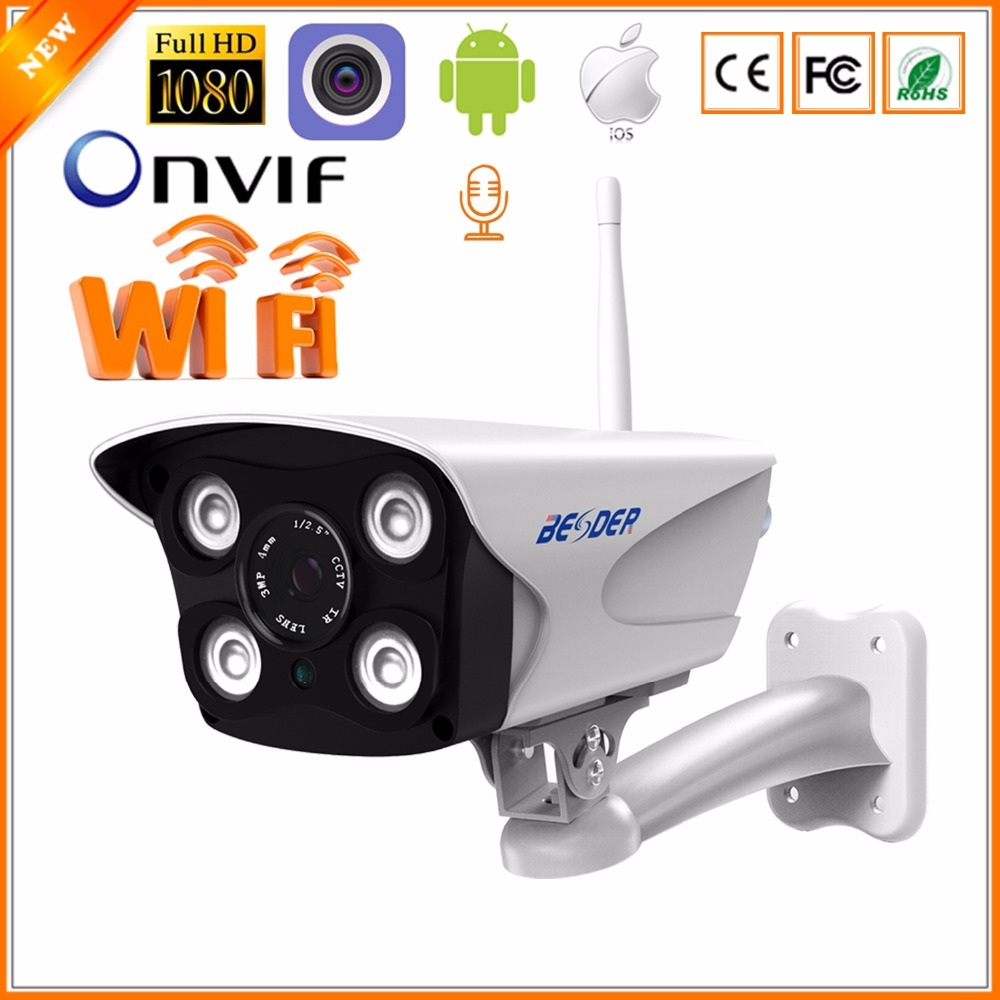 BESDER Two Way Audio 720P 960P 1080P Wifi IP Security Camera CCTV Dual Light Source Onvif