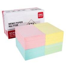 4 посылка в наборе 51*76 мм бумага для заметок 100 страницы Стикеры для заметок постельные этикетки s note креативный deli 7155
