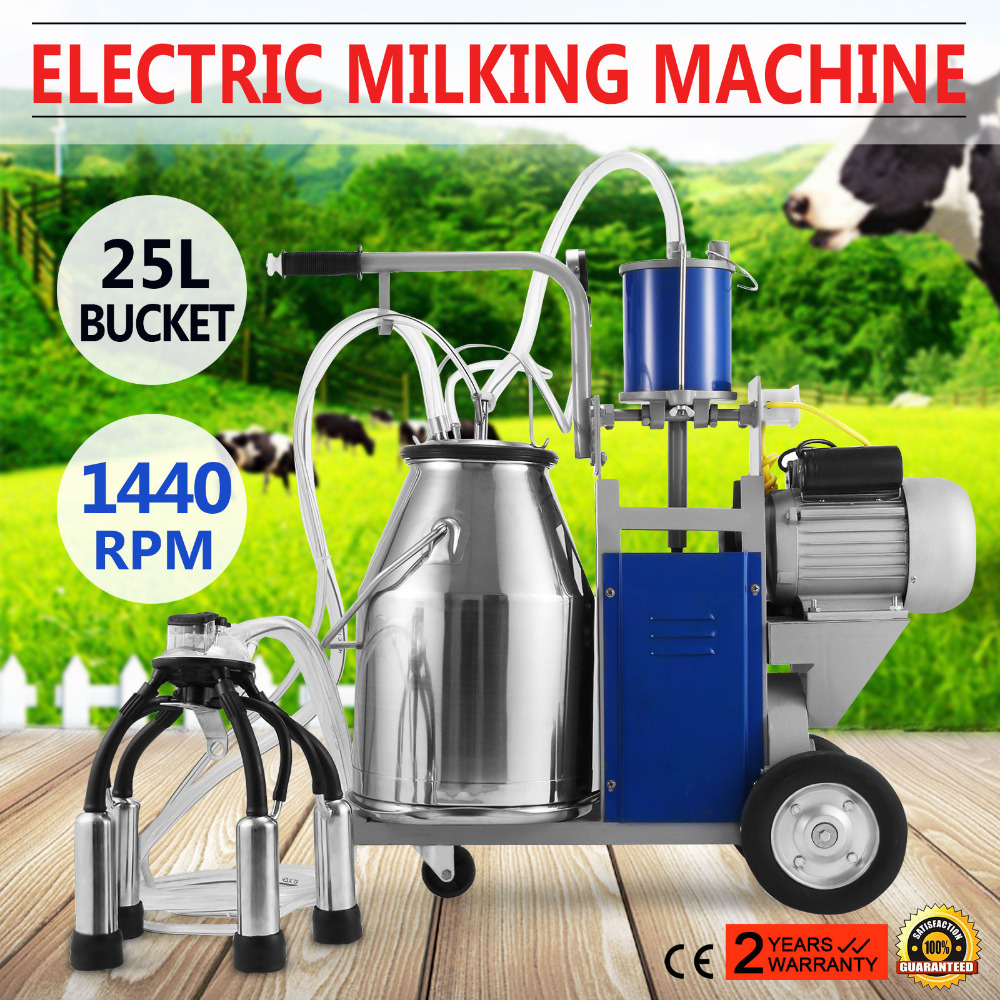 Brand-new Electric Milking Machine For Farm Cows Bucket 304 Stainless Steel Bucket