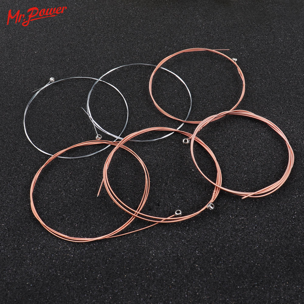 6 pcs/ Set Acoustic Guitar String set Silver Pure Strigning for Classic Acoustic Guitar High Quality