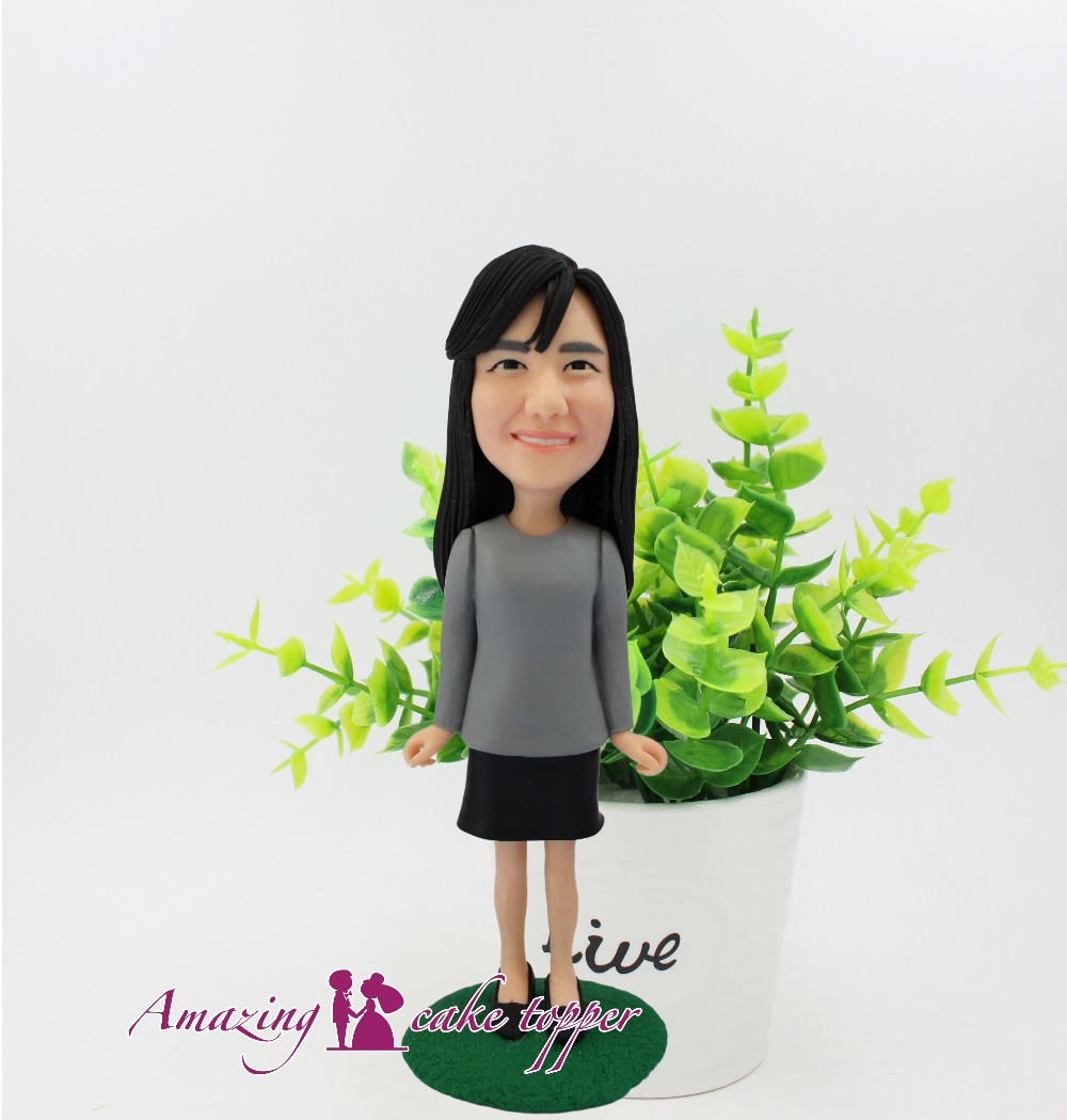 2018 AMAZING CAKE TOPPER Toys Laughter girls are not bad luck And Groom Gifts Ideas Customized Figurine Valentine's Day