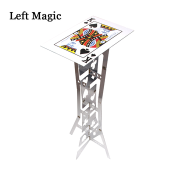 Aluminum Magic Folding Table (Alloy)- Silver Color Magic Tricks Magician Best Table Stage Close Up Illusions Magic Accessories