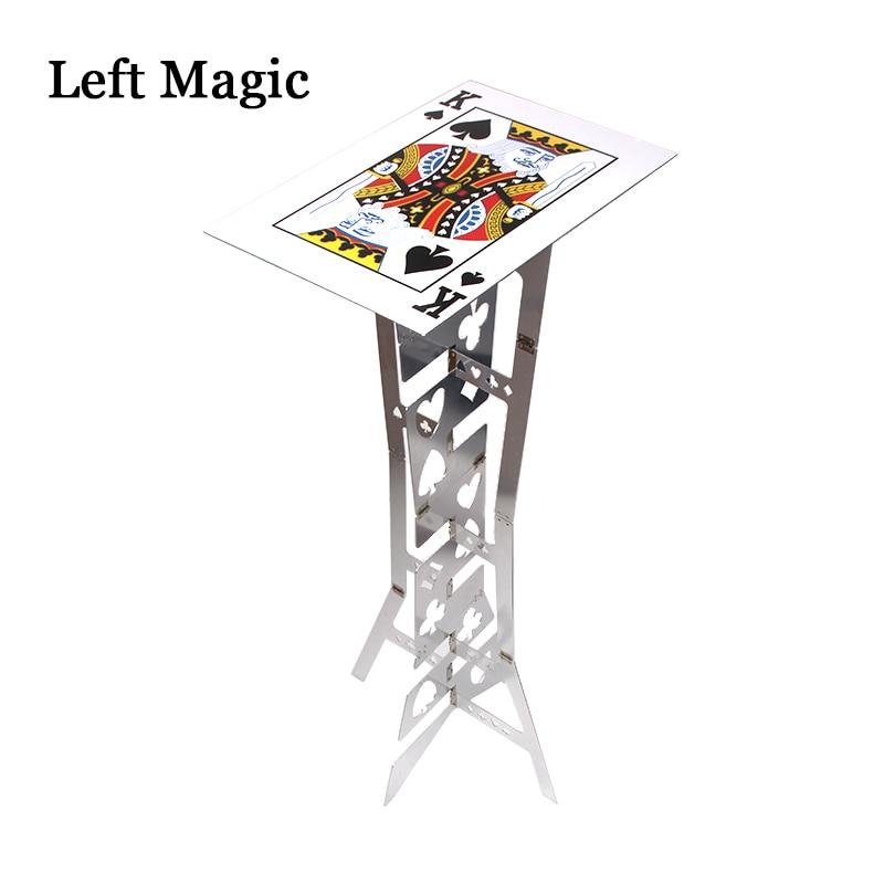 Mesa plegable mágica de aluminio (aleación) -trucos de magia de Color plateado mago mejor escenario de mesa Primer plano ilusión accesorios mágicos