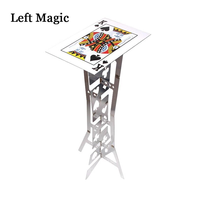 Table pliante magique en aluminium (alliage)-couleur argent tours de magie magicien meilleure scène de Table gros plan Illusions accessoires de magie