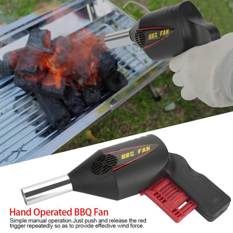 Soplador de Barbacoa Port/átil de Mano Ventilador de La Barbacoa El/éctrica Ventilador de Aire para Acampar al Aire Libre Picnic Grill Herramienta de Cocina
