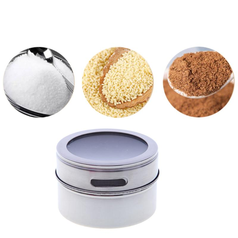 Stainless Steel Non Magnetic Visual Spice Jar Set Kitchen Rack Holder  Seasonings Containers Condiments Storage Box On Aliexpress.com | Alibaba  Group